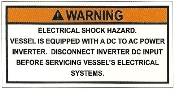 Inverter Warning Label