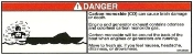 Reboarding Area CO Danger Label