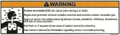 Helm Carbon Monoxide Warning Label